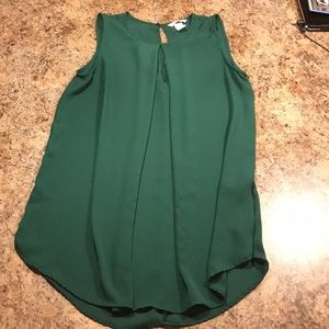 Green tank top - easily dressed up or down!